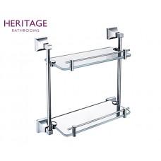 Design Doppel Glasablage Chancery