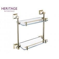 Design Doppel Glasablage Chancery Vintage Gold