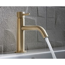 Design Einloch Waschtischarmatur Mike PRO Brass