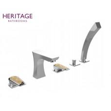 Design Fünfloch Wannenrandarmatur Lymington