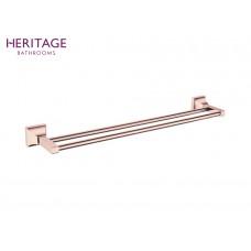Design Doppel Handtuchstange Chancery Rosé