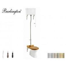 Retro Keramik WC-Becken Classic mit hoch hängendem Spülkasten