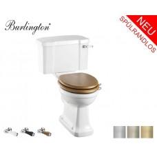 Spülrandloses Retro WC-Becken Classic mit aufgesetztem Spülkasten