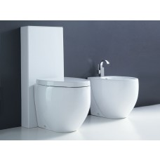 Keramik WC-Becken Ei-Design Ovo mit Spülkasten