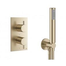 Design Unterputz Duscharmatur / 1 Weg Mike PRO Brass