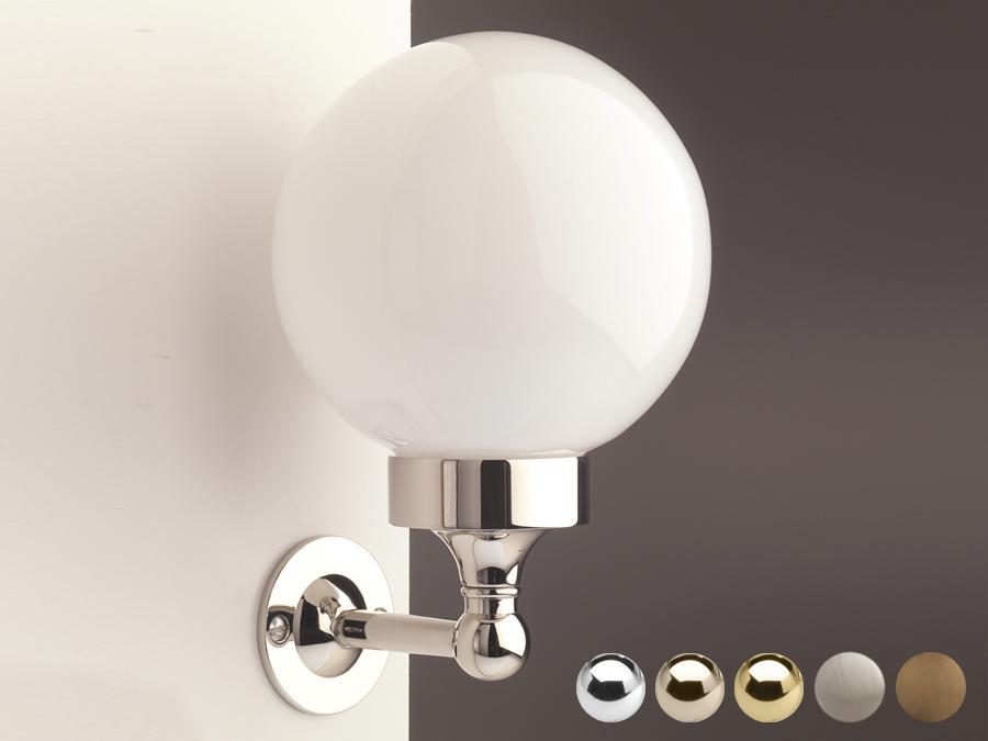 nostalgie badezimmerlampe globe classic  stone