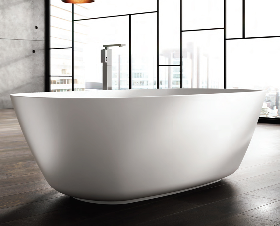 freistehende designer badewanne aus mineralguss organic t chni large classic stone. Black Bedroom Furniture Sets. Home Design Ideas